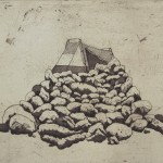Mound, 2013. etching, 9 x 12