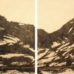 I- 75 Diptych, 2014. woodcut, 36 x 96