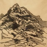 Summit, 2014. woodcut, 9 x 9