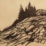 Overlook, 2014. woodcut, 6 x 9