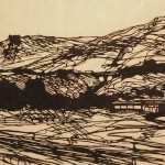 Weigh Station, 2014. woodcut, 18 x 30