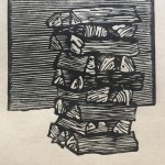 Small Stack, 2019. relief engraving 4 x 4